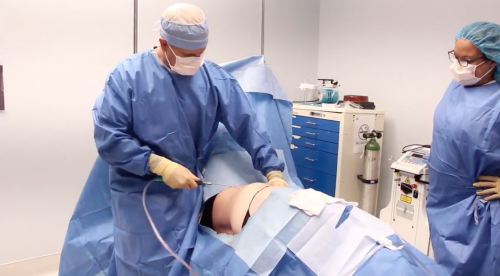 fat removal surgery with doctor and nurse