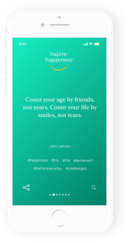 inspirational happiness quote mobile app