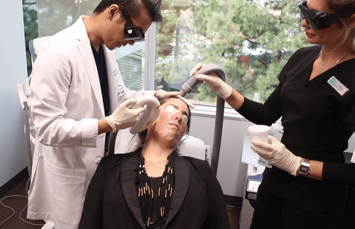 patient undergoing an anti-aging cosmetic treatment in San Diego, CA